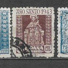 Sellos: ESPAÑA 1943 EDIFIL 961/963 USADO - 5/34. Lote 295611303