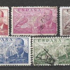 Sellos: ESPAÑA 1941 EDIFIL 941/945 USADO - 5/34. Lote 295611588