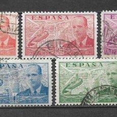 Sellos: ESPAÑA 1939 EDIFIL 880/882 Y 884/886 USADO - 5/34. Lote 295611868