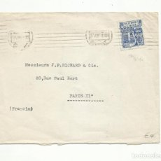 Sellos: CIRCULADA 1945 DE EMBAJADA DE FRANCIA EN MADRID A PARIS. Lote 295619008
