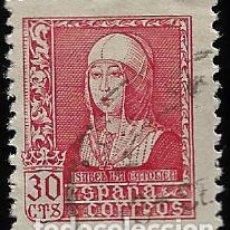 Sellos: ESTADO ESPAÑOL - ISABEL LA CATOLICA - EDIFIL Nº 857 - 1938-39. Lote 295650378