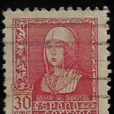 Sellos: ESTADO ESPAÑOL - ISABEL LA CATOLICA - EDIFIL Nº 857 - 1938-39. Lote 295650493