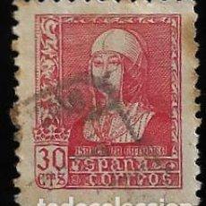 Sellos: ESTADO ESPAÑOL - ISABEL LA CATOLICA - EDIFIL Nº 857 - 1938-39. Lote 295650538