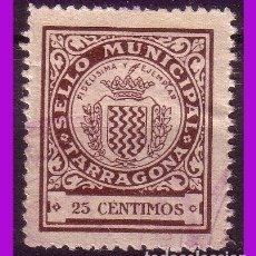 Sellos: TIMBRE MUNICIPAL TARRAGONA, 25 CTS. CASTAÑO (*). Lote 295734998