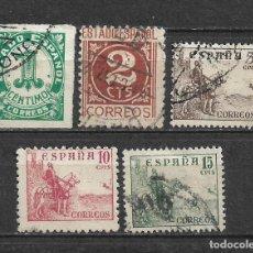 Sellos: ESPAÑA 1940 EDIFIL 914/918 USADO - 5/30. Lote 295823893