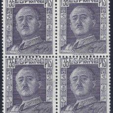 Sellos: EDIFIL 1061 GENERAL FRANCO 1949 (BLOQUE DE 4). MNH **. Lote 296739658