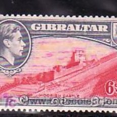 Sellos: GIBRALTAR 109A A DENTADO 13,1/2 CON CHARNELA, CASTILLO MAURE, . Lote 10858355