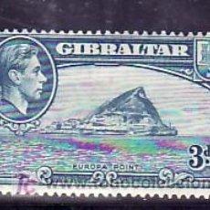 Sellos: GIBRALTAR 107A B DENTADO 14 CON CHARNELA, PUNTA DE EUROPA,. Lote 10858356