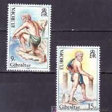 Sellos: GIBRALTAR 418/9 SIN CHARNELA, TEMA EUROPA 1981, FOLKLORE,. Lote 9990013