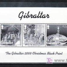 Sellos: GIBRALTAR 1059/63 PRUEBA EN NEGRO SIN CHARNELA, NAVIDAD, RELIGION,. Lote 11737651