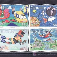 Sellos: GIBRALTAR 902/5 SIN CHARNELA, INFANCIA, DIBUJOS DE NIÑOS,. Lote 11769531