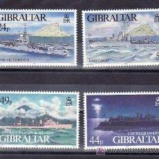 Sellos: GIBRALTAR 727/3 SIN CHARNELA, BARCO, NAVIOS DE GUERRA,. Lote 11843862