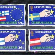 Sellos: GIBRALTAR 715/8 SIN CHARNELA, AMPLIACION DE LA UNION EUROPEA, AUSTRIA, FINLANDIA, SUECIA,. Lote 254185330