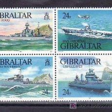 Sellos: GIBRALTAR 667/70 SIN CHARNELA, BARCO, NAVIOS DE GUERRA,. Lote 12009155