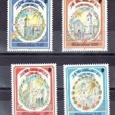 Sellos: GIBRALTAR 659/62 SIN CHARNELA, NAVIDAD, RELIGION, IGLESIAS DE GIBRALTAR,. Lote 180936138