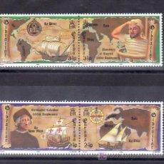 Sellos: GIBRALTAR 647/50 SIN CHARNELA, TEMA EUROPA 1992, BARCO, V CENTº DESCUBRIMIENTO DE AMERICA. Lote 49052063