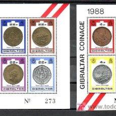 Sellos: GIBRALTAR 589/98 SIN CHARNELA, NUEVAS MONEDAS EMITIDAS EN 1988. Lote 10843463