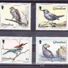 Sellos: GIBRALTAR 563/6 SIN CHARNELA, FAUNA, PAJAROS,. Lote 10843464