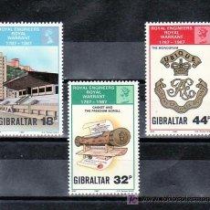 Sellos: GIBRALTAR 549/51 SIN CHARNELA, BICENTENARIO DEL CUERPO DE INGENIEROS. Lote 12055191