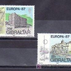 Sellos: GIBRALTAR 530/1 SIN CHARNELA, TEMA EUROPA 1987, ARQUITECTURA MODERNA,. Lote 9963364