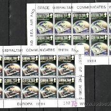 Sellos: GIBRALTAR 483/4 MINIPLIEGO SIN CHARNELA, TEMA EUROPA 1984, CORREOS Y TELECOMUNICACIONES, . Lote 10843470