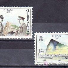 Sellos: GIBRALTAR 458/9 USADA, AVION, TEMA EUROPA 1982, HECHOS HISTORICOS,. Lote 32331191