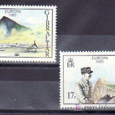 Sellos: GIBRALTAR 458/9 SIN CHARNELA, AVION, TEMA EUROPA 1982, HECHOS HISTORICOS,. Lote 9964155