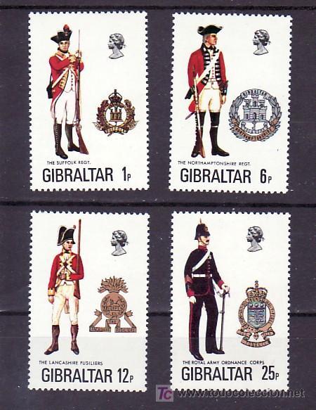 GIBRALTAR 338/41 SIN CHARNELA, UNIFORMES MILITARES, (Sellos - Extranjero - Europa - Gran Bretaña)