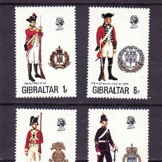 Sellos: GIBRALTAR 338/41 SIN CHARNELA, UNIFORMES MILITARES,. Lote 10527650