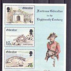 Sellos: GIBRALTAR HB 7 SIN CHARNELA, UNIFORME, FORTALEZA, . Lote 10518547