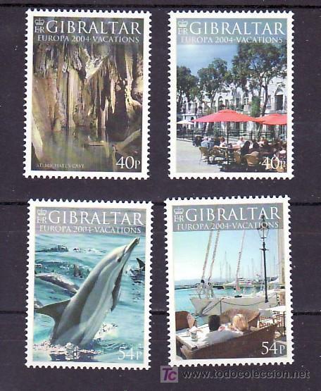 GIBRALTAR 1065/8 SIN CHARNELA, TEMA EUROPA 2004, VACACIONES, FAUNA, BARCO, (Sellos - Extranjero - Europa - Gran Bretaña)
