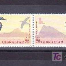 Sellos: GIBRALTAR 629/32 SIN CHARNELA, FAUNA, PAJARO,. Lote 10525475