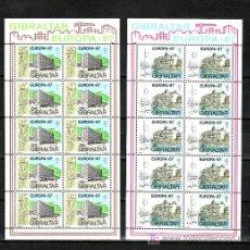 Sellos: GIBRALTAR 530/1 MINIPLIEGO SIN CHARNELA, TEMA EUROPA 1987, ARQUITECTURA MODERNA,. Lote 10525858