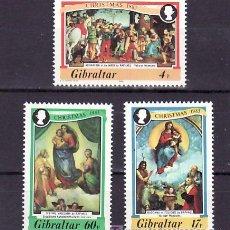 Sellos: GIBRALTAR 480/2 SIN CHARNELA, NAVIDAD, PINTURA DE RAPHAEL,. Lote 10525893