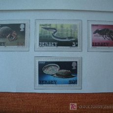 Sellos: JERSEY 1973 IVERT 83/86 *** RIQUEZAS DEL MAR - FAUNA. Lote 12600118