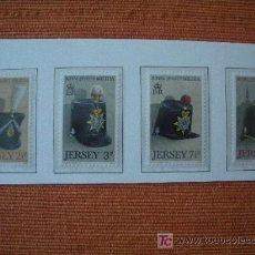 Sellos: JERSEY 1972 IVERT 63/66 *** GORROS DE LA MILICIA ROYAL DE JERSEY SIGLO XVIV. Lote 12600166