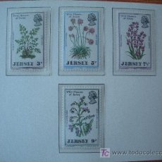 Sellos: JERSEY 1972 IVERT 55/58 *** FLORA - FLORES SILVESTRES. Lote 12600176