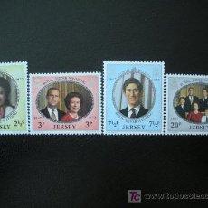 Sellos: JERSEY 1972 IVERT 67/70 *** BODAS DE PLATA DE LA CASA REAL. Lote 12606265