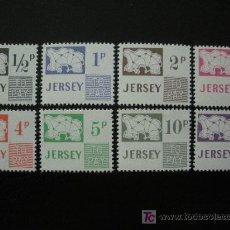 Sellos: JERSEY 1971 TASA IVERT 7/14 *** MAPAS. Lote 13168036