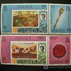 Sellos: JERSEY 1983 IVERT 293/96 *** EUROPA - GRANDES OBRAS DEL GENERO HUMANO. Lote 13208178