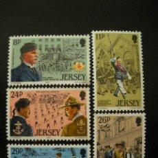 Sellos: JERSEY 1982 IVERT 282/86 *** ORGANIZACIONES DE JOVENES - 125 ANIV. NACIMIENTO LORD BADEN-POWELL. Lote 13208248