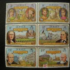 Sellos: JERSEY 1982 IVERT 276/81 *** PERSONAJES CÉLEBRES DE LA ISLA DE JERSEY. Lote 13208305