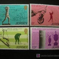 Sellos: JERSEY 1978 IVERT 167/70 *** CENTENARIO DEL REAL CLUB DE GOLF DE JERSEY. Lote 13210163
