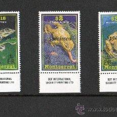 Sellos: MONTSERRAT AÑO 1995 MI 813/15*** SPECIMEN RANAS Y SAPOS - REPTILES - FAUNA - NATURALEZA. Lote 22035501