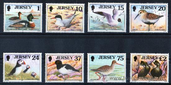 JERSEY AÑO 1997 MI 765/72*** AVES MARINAS - FAUNA - NATURALEZA (Sellos - Extranjero - Europa - Gran Bretaña)