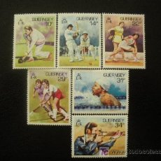 Sellos: GUERNESEY 1986 IVERT 363/8 *** DEPORTES. Lote 19196231