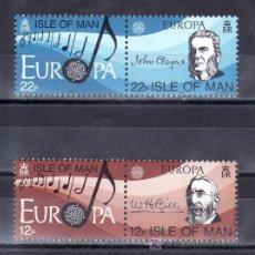 Sellos: GRAN BRETAÑA-MAN 273/6 SIN CHARNELA, TEMA EUROPA, AÑO EUROPEO DE LA MUSICA. Lote 19663959