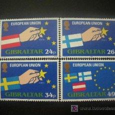 Sellos: GIBRALTAR 1995 IVERT 715/8 *** AMPLIACIÓN DE LA UNIÓN EUROPEA. Lote 19844917