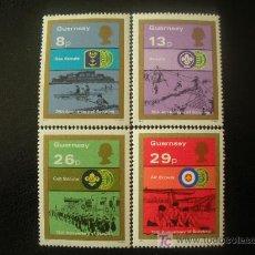 Sellos: GUERNESEY 1982 IVERT 253/6 *** 75 ANIVERSARIO DE LOS BOY SCOUTS - ACTIVIDADES EN GUERNESEY. Lote 20108467