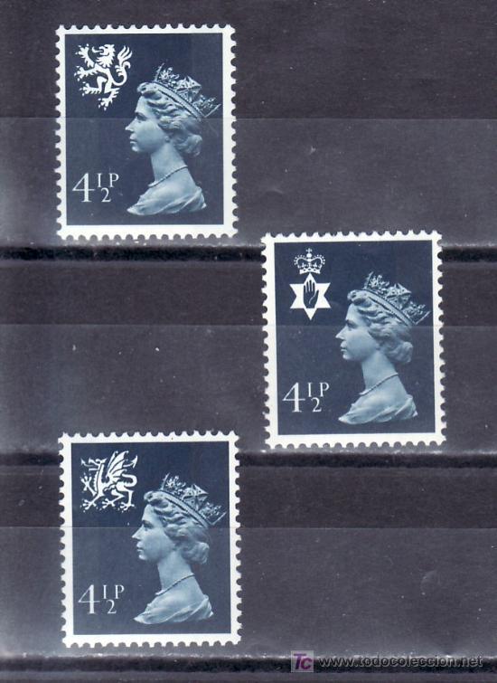 GRAN BRETAÑA 739/41 SIN CHARNELA, REGIONALES, (Sellos - Extranjero - Europa - Gran Bretaña)